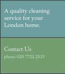 A quality cleaning service for your London home. Please contact us by email or telephone on 020 7722 2533